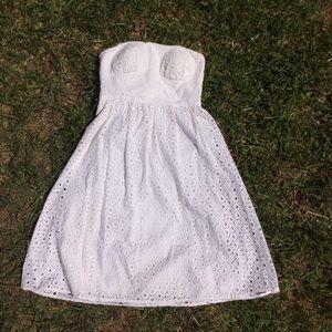 White Eyelet Cynthia Steffe Dress